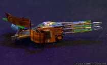 Die Armeinheit der 80 Gigabyte Festplatte besitzt am Ende des Zugriffkamms 4 Leseköpfe und weitere 4 Schreibköpfe, die mit einem Abstand von zirka 0,25 µm über der Magnetscheibe schweben. Da Schreib- und Lesekopf nicht an gleicher Position angeordnet sind und somit sich auf verschiedenen Spuren befinden, sorgt ein Programm (Microcode) auf der Festplattenelektronik dafür, dass die Synchronisation immer stimmt.