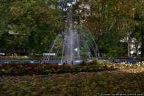 Springbrunnen im Herbst in der Kuranlage