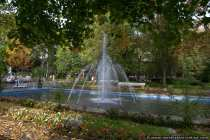 Ein Brunnen im Kurpark Bad Muenster am Stein