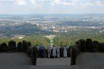 Gigantische Aussicht vom Wahrzeichen Kassels