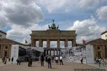 Brandenburger Tor mit Vergleichsansicht