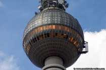 Kaffee, Kuchen und einen Rundumblick auf Berlin in 200m Höhe vom Fernsehturm.