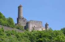 Burgruine Hornberg, auch als Goetzenburg bekannt, bei Neckarzimmern.