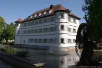 Das Wasserschloss ist gleichzeitig das Wahrzeichen von Bad Rappenau und wurde 1601 erbaut.