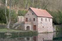Das Nebengebäude vom Schloss Mespelbrunn