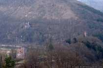 Vier Burgen auf einen Blick zwischen dem Neckar und der Steinach. Die Burgen wurden zwischen 1100 und 1230 östlich von Heidelberg von den Herren von Steinach erbaut.