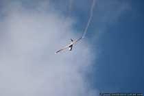 Kunstflug mit einem Segelflieger