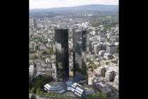 Deutsche Bank in Frankfurt. Die Stadt, die niemals schläft.