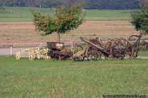 Antike Landmaschinen zum Ackerbau und Viehzucht
