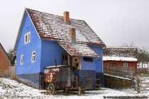 Das Schäferhaus, leicht zugeschneit.