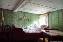 Einsicht in ein historisches Gebäudeinnere im Odenwälder Freilandmuseum bei Gottersdorf.