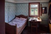 In den Gebäuden waren die Räume recht klein und funktionell eingerichtet. Die Deckenhöhe war sehr niedrig und in den Häusern verliefen die Ofenrohre offenliegend.