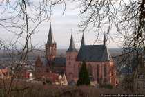 Rückseite der Sankt Katharinen Kirche in Oppenheim.