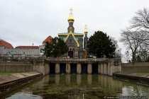 In Darmstadt auf der Mathildenhöhe wurde 1897 die russische Kapelle erbaut.