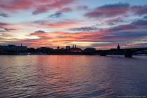 Sonnenuntergang in Mainz