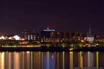 Hotel Hilton in Mainz zu Mitternacht