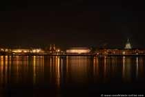 Mainz am Rhein - Nachtbild - Panoramabild