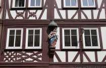 Teilansicht von einem Fachwerkhaus - Partial view of a half timbered house