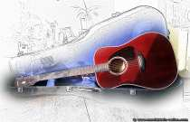 Aus analogen Uhrzeiten und digital aufgepeppt. Die Cima-Gitarre, la Musica.
