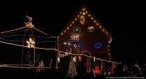 Das Weihnachtshaus in Dallau weckt weihnachtliche Stimmung. Ein faszinierendes und weihnachtlich geschmücktes Haus, das einen Preis verdient hätte.