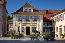 Restaurant Deutschherren Stuben auf dem Weikersheimer Marktplatz