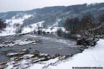 Winterliche Landschaft im lieblichen Taubertal
