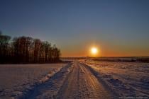 Der Sonnenuntergang fotografiert zwischen Weikersheim und Bad Mergentheim. [EOS5D Mark4 | ISO100 | f8,0 | 1/500s | 30mm]
