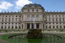 Blick auf die Residenz vom Hofgarten