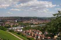 Blick über die Stadt Würzburg in Bayern