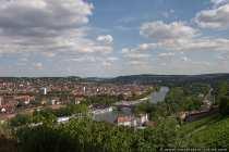 Gigantischer Ausblick über Würzburg von der Festung Marienberg