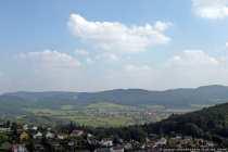 Ausblick über den Odenwaldkreis von der Burgruine Lindenfels
