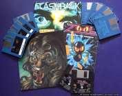 Amiga Disketten 3,5 Zoll mit den Spielen Flashback, Lionheart und Zool.