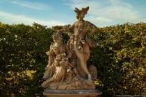 Der ideenreiche Aufbau des Veitshöchheimer Hofgartens in seiner Kleinräumigkeit spiegelt die inhaltliche und gestalterische Vielschichtigkeit im Rokoko wider.
