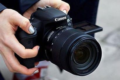 Einsteigerkamera EOS77D