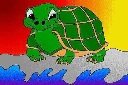 Artworks Schildkröte Schildi entstand auf einem Amiga 2000