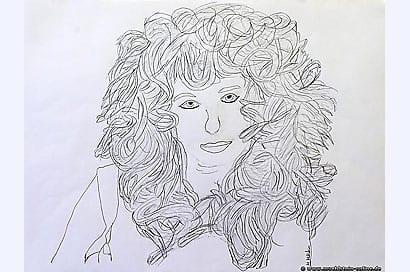 Artwork Löwenfrau mit Schlamassel