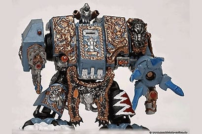 Artwork Miniaturfigur Warhammer Dreadnought