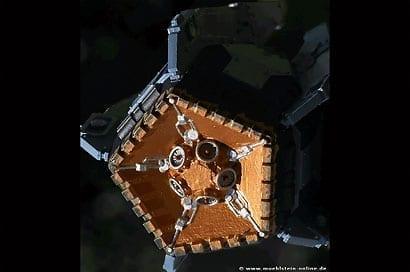 Artwork Landekapsel aus der Warhammer Serie