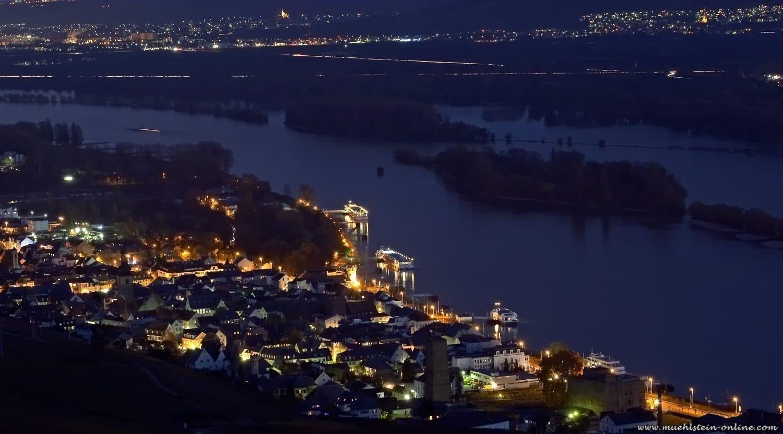 Ruedesheim am Rhein. 30 Sekunden Langzeitbelichtung.