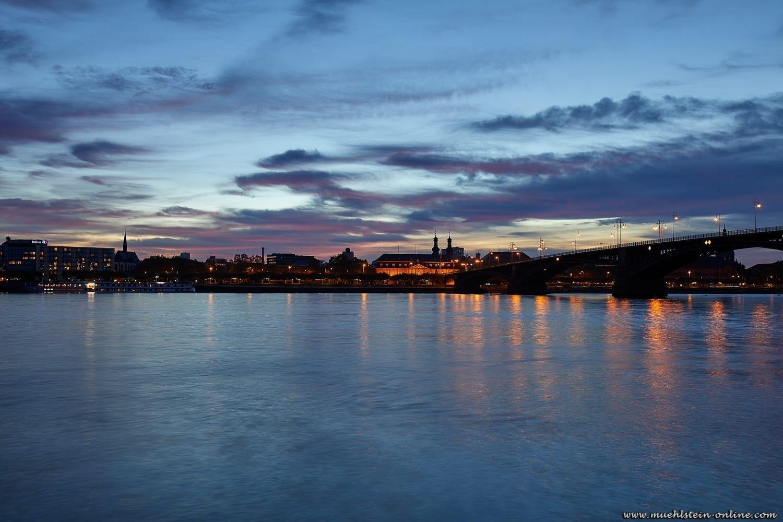 Mainz am Rhein im Oktober 2019.