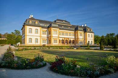 Schloss Veitshöchheim und ein Schatz der deutschen Gartenkunst digital fotografiert