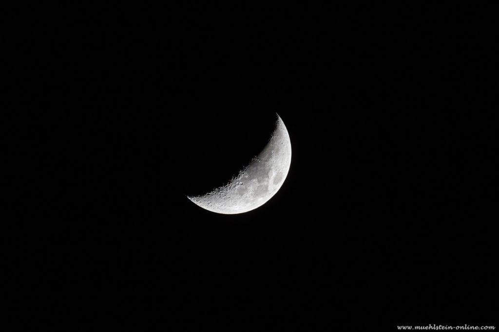 Zunehmender Mond am 19.03.2021